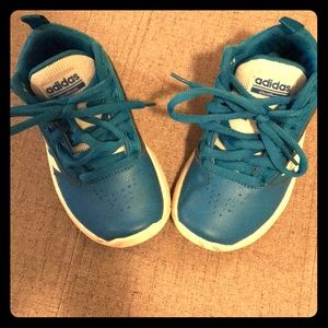 ADIDAS toddler boys size 11 baby blue high tops!